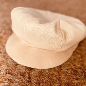Vintage Women Linen Newsboy Cap Cabbie Hat